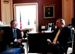 Ambassador Altangerel with Senator Dick Durbin