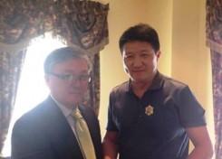 Ambassador Altangerel with M.Delgertsogt