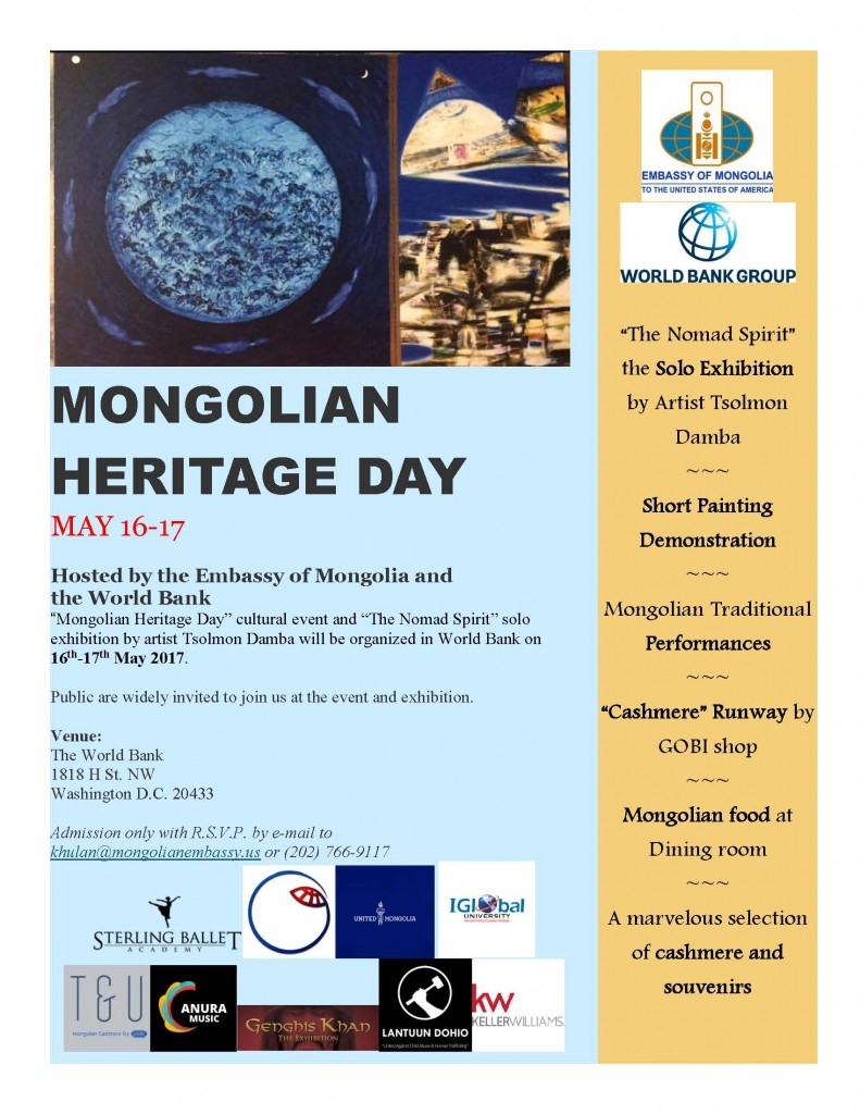 flyer - Heritage day of Mongolia new